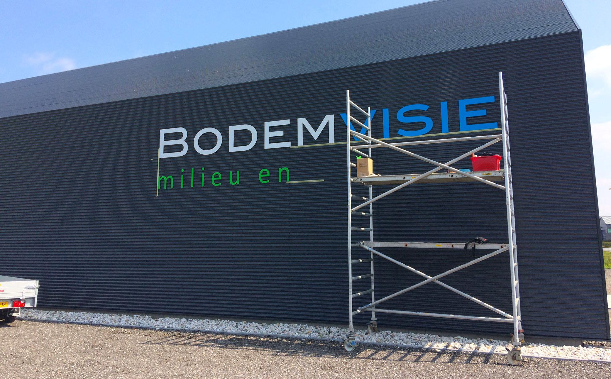 Gevelreclame Bodemvisie Grou - Van der Meer Reklame Burgum