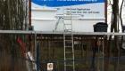 reclamebord Fierljeppen Burgum - Van der Meer Reklame Burgum