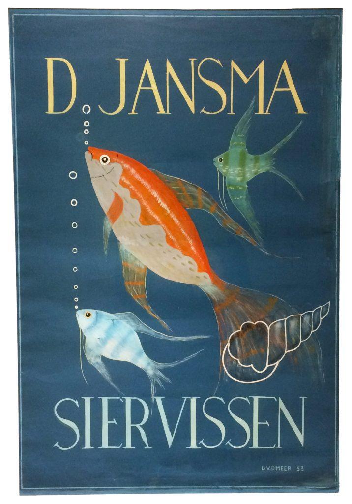Afficheontwerp Durk van der Meer 1953